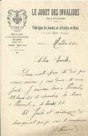 PARIS LE JOUET DES INVALIDES MUTILES DE LA GUERRE FABRIQUE DE JOUET EN BOIS DIRECTEUR MR ROUVEL ANNEE 1922 - France