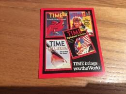 "Calendrier 1981 ANGLETERRE ""TIME"" (7x9cm) (Bjorn Borg) - Kalenders"