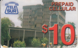 SURINAM - Telecom Building, TeleSur Prepaid Card $10, Used