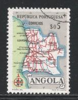 Angola 1955. Scott #386 (U) Map Of Angola - Angola