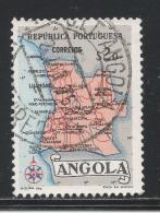 Angola 1955. Scott #387 (U) Map Of Angola - Angola