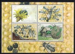 Slovenia. 2001. Bees. MNH Sheet Of 4. SCV = 6.25 - Honeybees