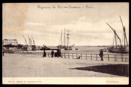 1900 FIGUEIRA Da FOZ - CAMARA E DOCA. Edição Da Papelaria Lobo. Circulado Em 1905 (Coimbra) PORTUGAL - Coimbra