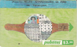 EL SALVADOR - Children Drawings 3, Chip GEM3.3, Used - El Salvador