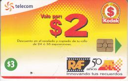 EL SALVADOR - Kodak Logo(vale Port $2), Chip GEM3.3, Used - El Salvador
