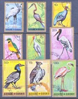 BURUNDI  C 8-16     (o)   AFRICAN  BIRDS - Oiseaux