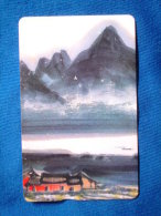 Taiwan Telephone IC Card IC00C014 Painting Culture Architecture Ancient Residence Ship Boat Mountain - Taiwan (Formosa)