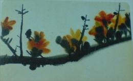 Taiwan Telephone IC Card IC00C011 Painting Culture Ceiba Flower Flora - Taiwan (Formosa)