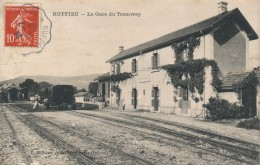01 - RUFFIEU - Ain - La Gare Du Tramway - Autres Communes