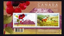 CANADA  2005,  2106b  BIOSPHERE RESERVES: Waterton Lakes (Canada) & Killarney(Ireland) NATIONAL  PARKS - Blocs-feuillets