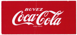 BUVARD BUVEZ COCA-COLA MARQUE DEPOSEE - Softdrinks