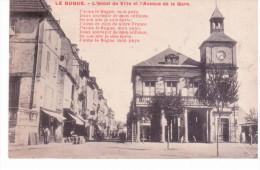 Le Bugue - L'hôtel De Ville Et L'avenue De La Gare - Frankreich