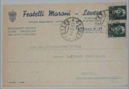 BERGAMO - Lovere - Cartolina Pubblicitaria Fratelli Maroni Officina Metallurgica - Lavori Speciali In Lastra Di Metallo - Bergamo
