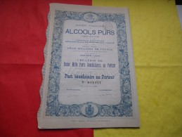 Française Des ALCOOLS PURS (procédés Bang Et Ruffin) 1888 - Azioni & Titoli