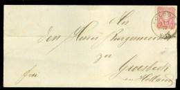 BRIEFOMSLAG Uit 1877 Van CLEVE DEUTSCHE REICH Naar GROESBEEK (10.379) - Briefe U. Dokumente