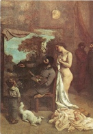 CPSM Musée Du Louvre-Courbet-L'atelier Du Peintre     L1996 - Pittura & Quadri