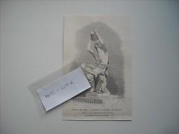 GRAVURE 1869. SALON DE 1869. JEUNE VIGNERON ALSACIEN. STATUE EN BRONZE DE M. F.-A. BARTHOLDI. - Estampes & Gravures