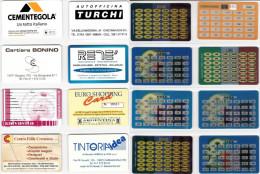 LOTTO 8 SCHEDE CONVERTITORI EURO DIFFERENTI (25 - Altre Collezioni