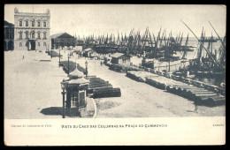LISBOA - Vista Do Cais Da Colunas Praça Comercio. Old Postcard TERREIRO DO PAÇO. Portugal 1900s - Lisboa
