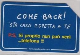 SCHEDA TELEFONICA USATA 458 COME BACK - Pubbliche Speciali O Commemorative