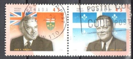 Canada 1998 - Mi. 1654-55 Horizontal Pair Used - 1952-.... Elizabeth II