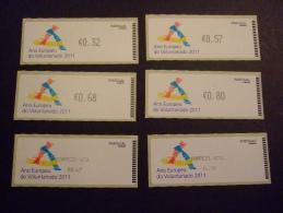 PORTUGAL 2011  EUROPEAN YEAR OF VOLUNTEERS   ATM  CROUZET   MNH ** (E06-469) - Ideas Europeas