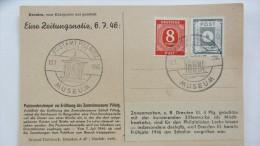 OPD: Ansichts-Karte Mit 4 Pf OPD Dresden MiF Mit 8 Pfg Ziffer Mit Hinweis Zum Verwendeten Sonderstempel  13.7.46 Knr: 61 - Sowjetische Zone (SBZ)