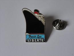 Pin´s Paquebot LIBERTE.Cie Gle TRANSATLANTIQUE (V.2 Clichés) - Bateaux