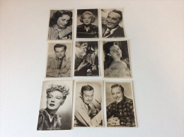 Acteurs - Cinema - 36 Cards  - 4 Scans - Artistas
