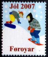 FERROE FARROE - Vignette Cinderella 2007 Snowboard JOL Christmas Navidad Noël Neuf - MNH