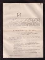 OVERIJSE ISQUE Henri-Joseph KUMPS Professeur Mathématique KUL UCL Leuven  1799-1867 LEUVEN Doodsbrief BOUWENS - Décès
