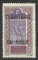 Niger, 1 C. 1921, Scott # 1, MH. - Niger (1921-1944)