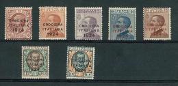 ITALY KINGDOM - YEAR 1924 - ITALIAN CRUISE LATIN AMERICA  # 162/168 ** MNH - FRESH GUM - 1900-44 Vittorio Emanuele III