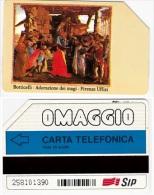 SCHEDA TELEFONICA USATA 15 OM BOTTICELLI (390 - Pubbliche Speciali O Commemorative