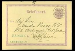 HANDGESCHREVEN BRIEFKAART Uit 1877 Van LOKAAL AMSTERDAM  (10.383) - Postal Stationery