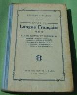 COURS DE LANGUE FRANCAISE COURS MOYEN CM LIBRAIRIE HATIER CROISAD DUBOIS - Livres, BD, Revues