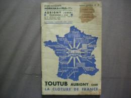 AUBIGNY CHER ETABLISSEMENTS HORKISKA ET FILS TOUTUB LA CLOTURE DE FRANCE CATALOGUE 28 PAGES - Advertising