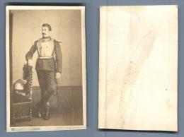 Deconclois, Creusot, Un Militaire Des Dragons Avec Armure  CDV Vintage Albumen. Deconclois, Guillaume Isidore, Photograp - War, Military