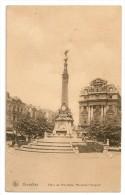 BRUXELLES - Place De Brouckère, Monument Anspach. Oblitération Mont-Gauthier Et Liège. - Belgique