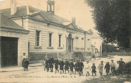 37 MANTHELAN MAIRIE ET ECOLE ANIMEES - France