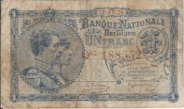1 Franc 1920-1922 - [ 2] 1831-... : Belgian Kingdom