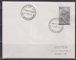 = Saint Flour Enveloppe 1er Jour Saint Denis (Réunion) 17.1.65 N°360 - Reunion Island (1852-1975)