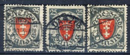 ##K2348. Germany / Danzig 1924. 3 Items. Michel 197. (o) - Dantzig