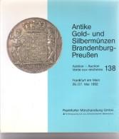 Gold- Und Silbermünzen - Auction 138 - 26-27 Mai 1992 - Frankfurter Münzhandlung GmbH - Deutsch