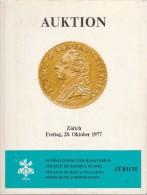 Auktion - Zürich - 28-10-1977 - Société De Banque Suisse - Schweizerischer Bankveren - Catalogue De La Vente - Deutsch