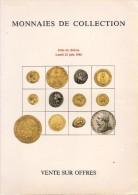 Josiane Védrines - Bernard Poindessault - Catalogue De La Vente Du 23 Juin 1986 - Français