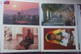 BURMANIE , MYANMAR , LOI-KAW , Giraffe-Women , Femmes Girafes  - 4  Old Postcard Lot - Bagan - Bangladesh