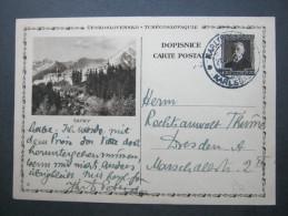 1931 , Bildganzsache Nach Deutschland Verschickt, Min. Knickspur - Postal Stationery