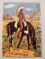 Kt 705 / QSL Radio Card, Apache, Nativ Indian, Horse - Radio Amatoriale
