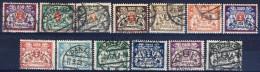 ##G1595. Germany / Danzig 1923. 13 Items. Michel Type K. Coat Of Arms. (o) - Dantzig